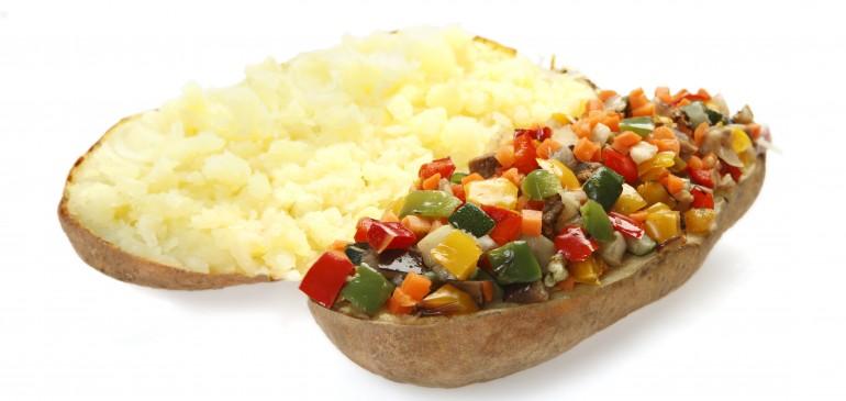 Vegetarian baked potato