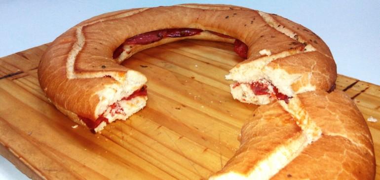 Chorizo & Salchichon sandwich